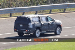 2021 Cadillac Escalade ESV Spy Shots - September 2019 - exposed grille 006