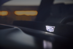 2021-Cadillac-Escalade-Interior-Cadillac-logo-on-OLED-screen-002-lit-up-at-night
