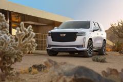 2021-Cadillac-Escalade-Sport-Exterior-002-front-three-quarters