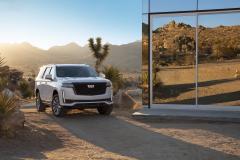 2021-Cadillac-Escalade-Sport-Exterior-004-front-three-quarters
