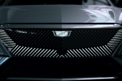 2023-Cadillac-Lyriq-Exterior-028-front-end-grille-illuminated-Cadillac-emblem