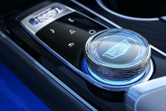 2023-Cadillac-Lyriq-Interior-011-cockpit-rotary-infotainment-controller-with-Cadillac-logo