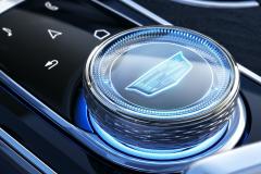 2023-Cadillac-Lyriq-Interior-012-cockpit-rotary-infotainment-controller-with-Cadillac-logo