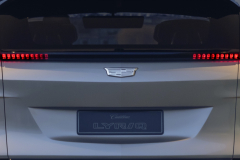 2023-Cadillac-Lyriq-Show-Car-Exterior-012-rear-end-liftgate-tail-lights-Cadillac-logo
