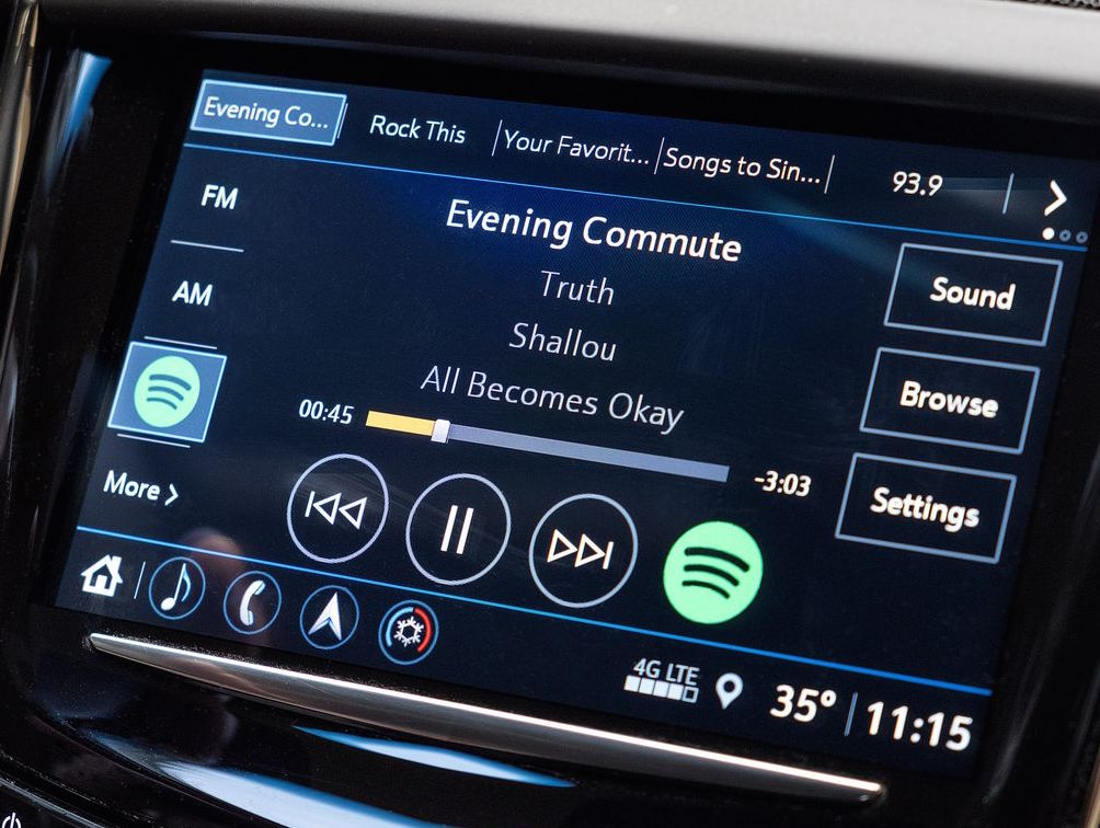 Cadillac Evening News >> Spotify S Cadillac App Requires Active Data Subscription Owner Tip
