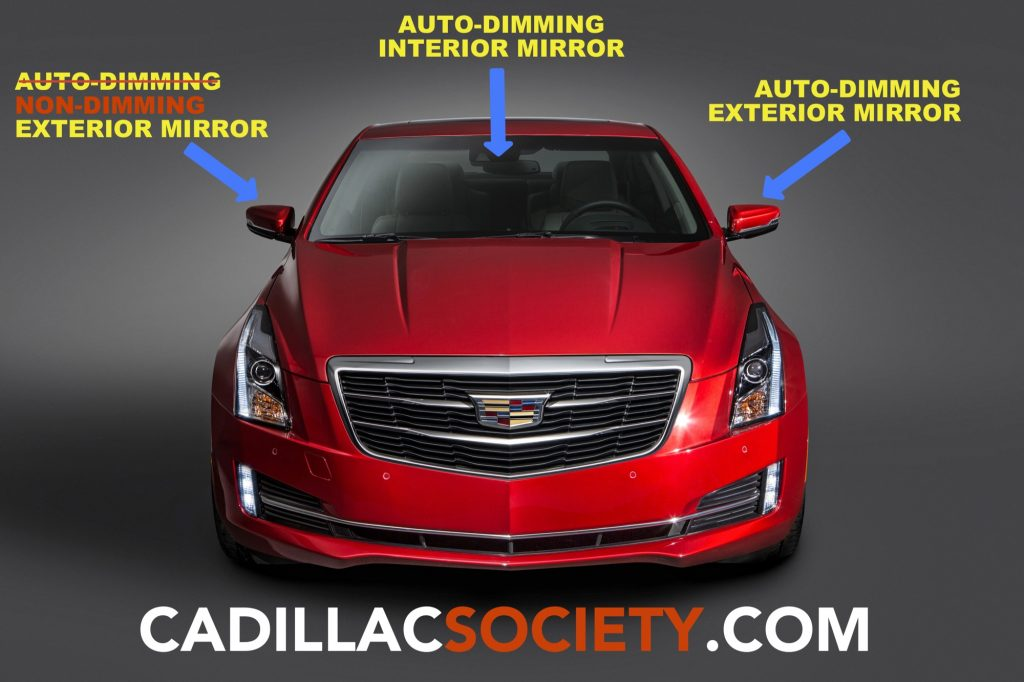 Both 2019 Cadillac Xt4 Mirrors Feature Auto Dimming Functionality