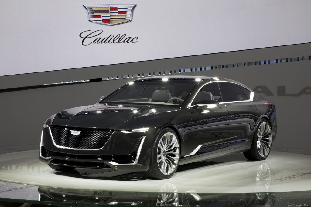 Cadillac Escala concept, which provides styling cues for the upcoming Celestiq.