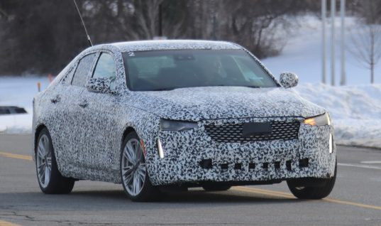 Cadillac CT4 Premium Luxury Spied With Production Grille And Lights