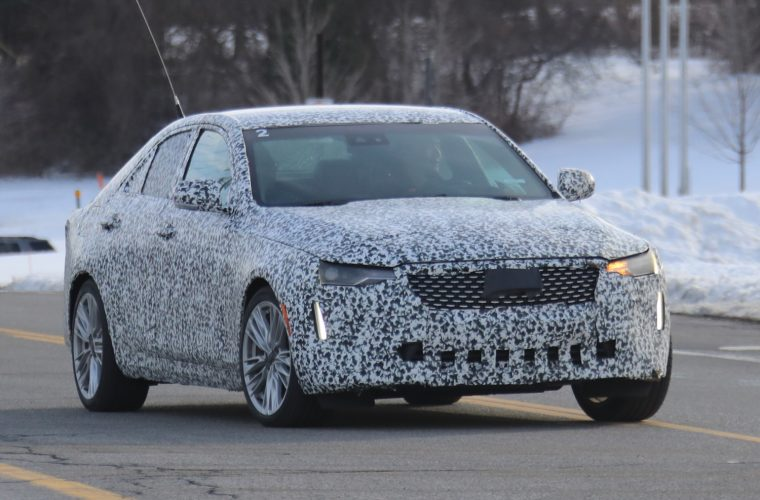 Cadillac CT4 Premium Luxury Spied With Production Grille, Lights