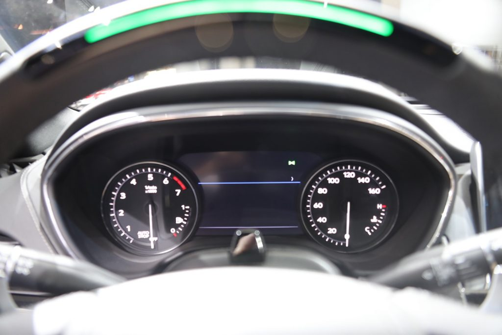 The analog gauges with digital displays will remain the base gauge cluster for the 2021 model year2020 Cadillac CT5 gauge cluster with dual digital displays
