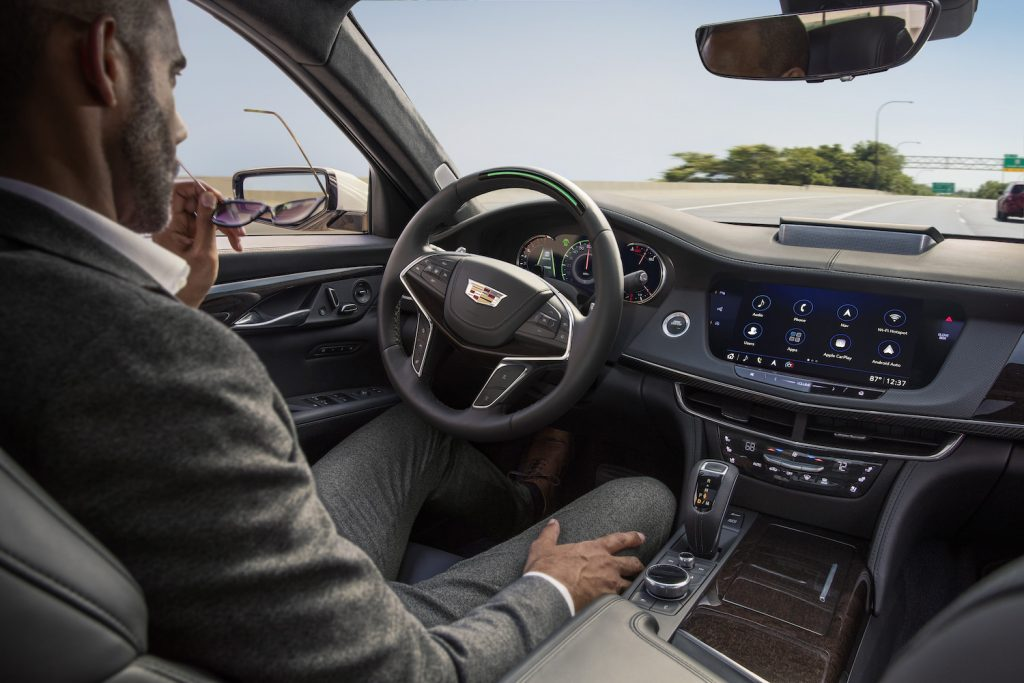 Cadillac Super Cruise in action in 2019 CT6