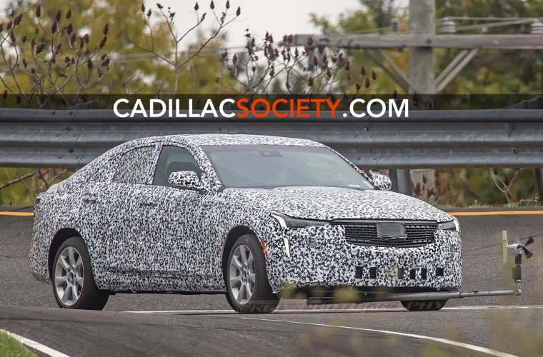 2020 Cadillac CT4 Prototype Spied With Crosswind Testing Device