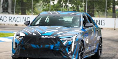 Cadillac CT4-V Blackwing Spy Footage May Confirm Twin-Turbo V6 Powerplant: Video