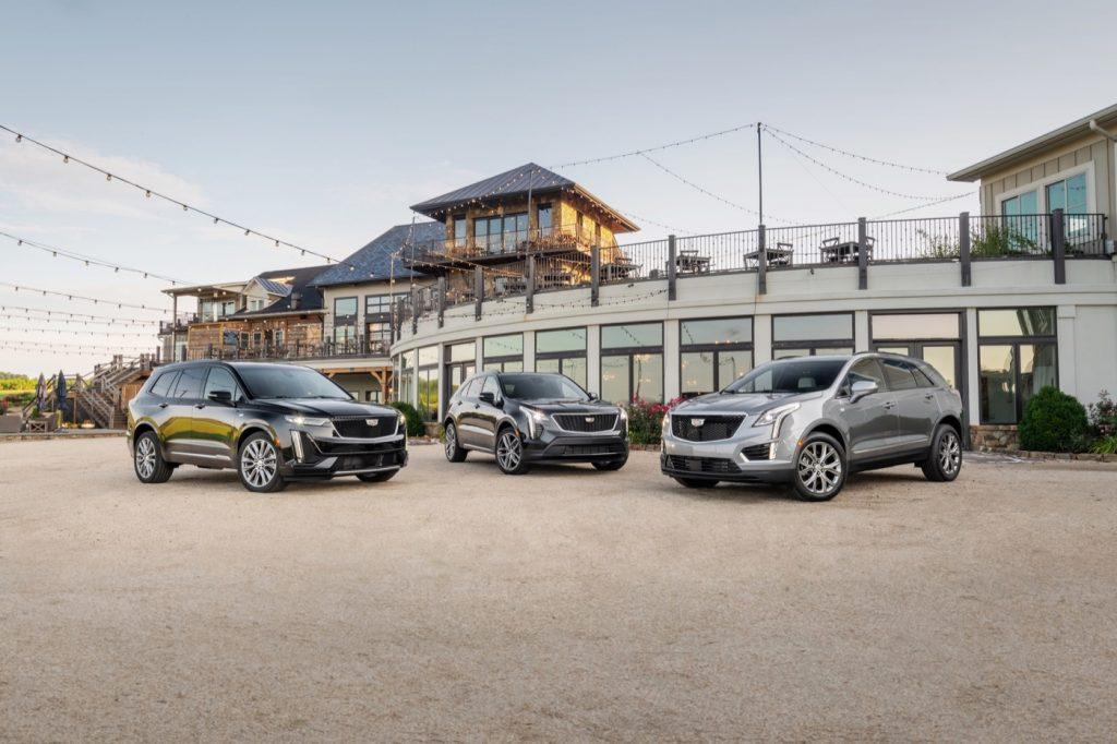 Left to right: Cadillac XT6, XT4, XT5