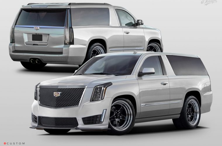 Cadillac Escalade V-Coupe Rendering Is Bold, Brash, And Truly Excellent