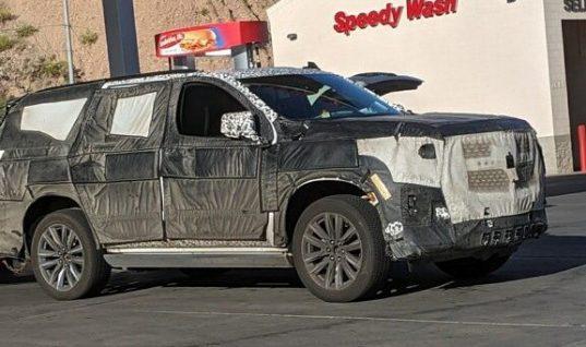 Next-Gen Cadillac Escalade Dash Spied With Wide Screens