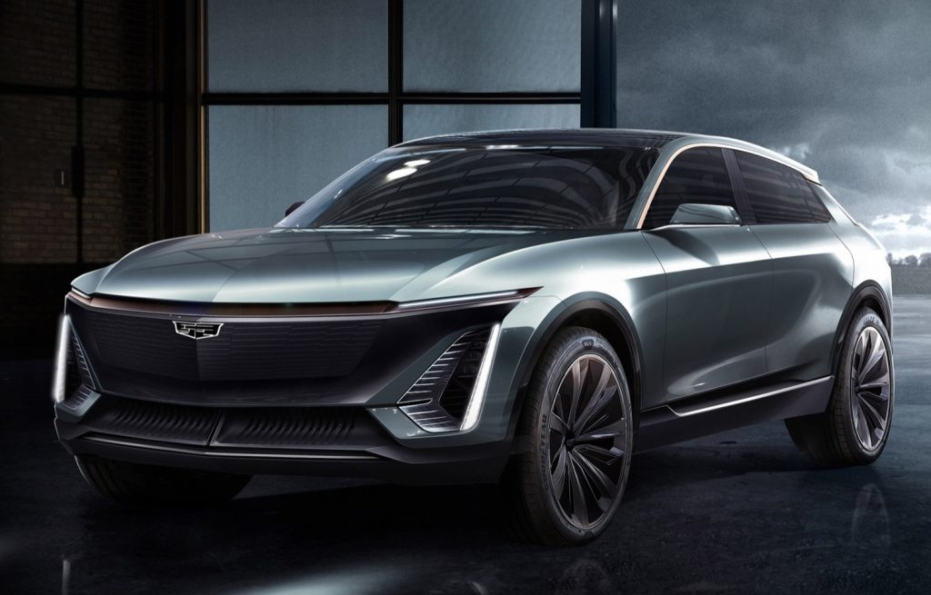 Unnamed Cadillac EV concept, from which the new Lyriq takes its design cues.