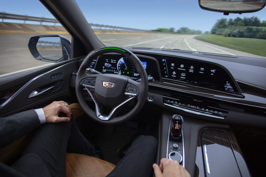 Cadillac Super Cruise in action in 2021 Escalade