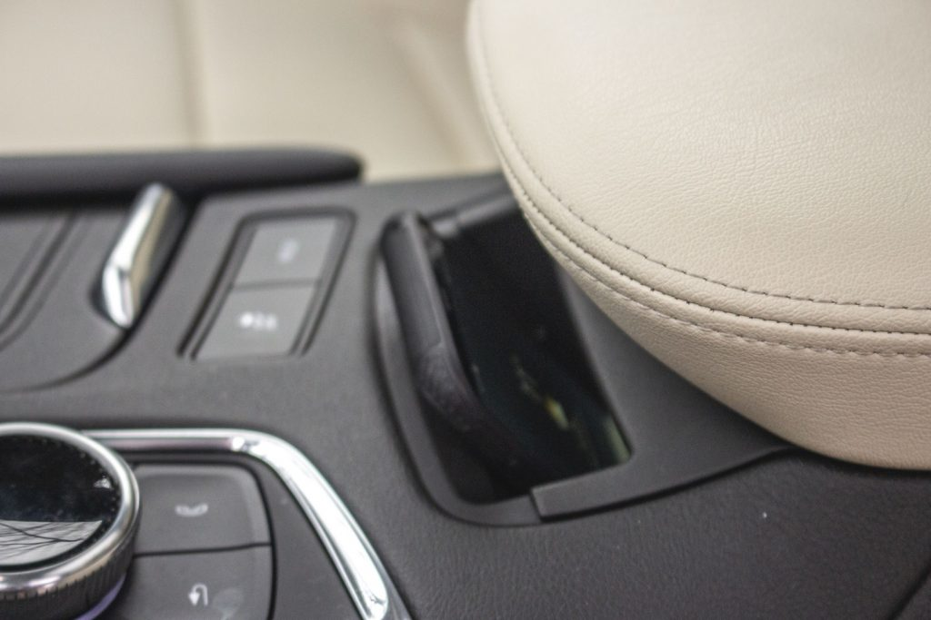 The charging pocket in the Cadillac XT5