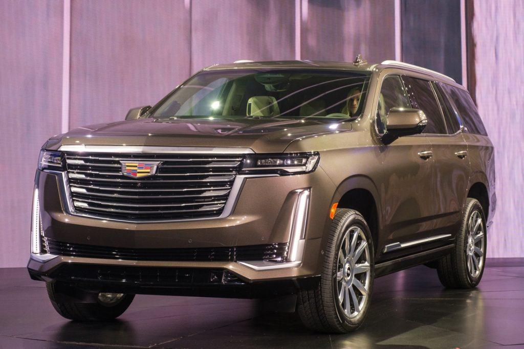2021 Cadillac Escalade grille design for Premium Luxury Platinum model