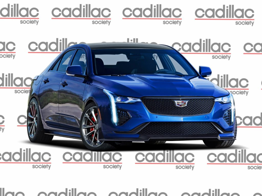Cadillac Society rendering of the CT4-V Blackwing