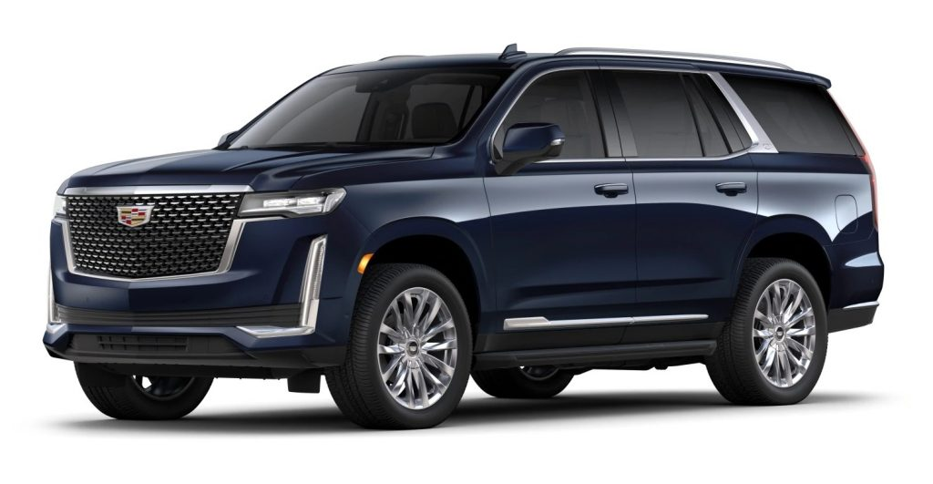 2021 Cadillac Escalade grille design for Luxury (base) and Premium Luxury models