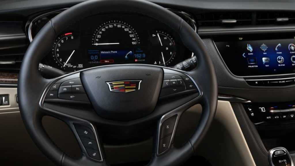 Base gauge cluster on 2017-2019 Cadillac XT5