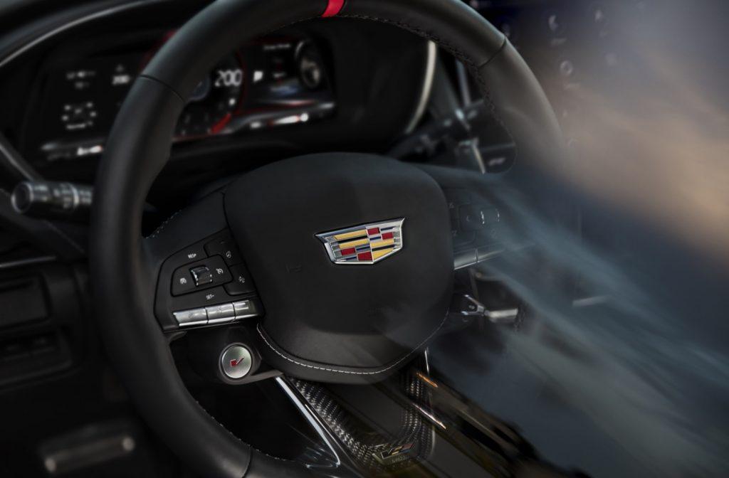 Cadillac CT5-V steering wheel