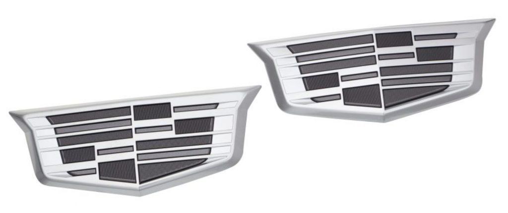 Monochromatic Cadillac logos for the XT4