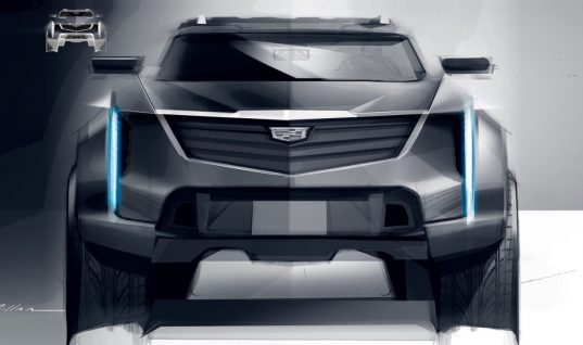 Check Out This Big And Brutal Cadillac Truck Rendering