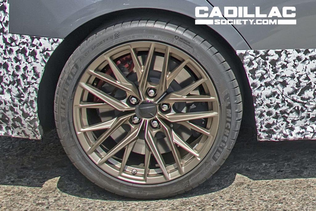 Rear magnesium wheel on Cadillac CT5-V Blackwing Prototype.