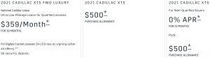 Cadillac XT5 Offer November 2020
