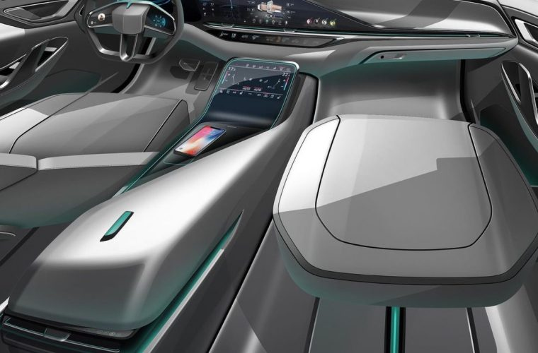 Futuristic Cadillac SUV Cabin Rendering Is Heavy On Tech And Screens