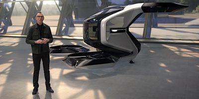 Cadillac Vertol Autonomous Electric Flying Concept Car Revealed
