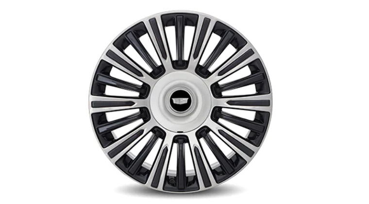 22-inch Multi Spoke Polished alloy wheels with Dark Android Gloss Finish SEY