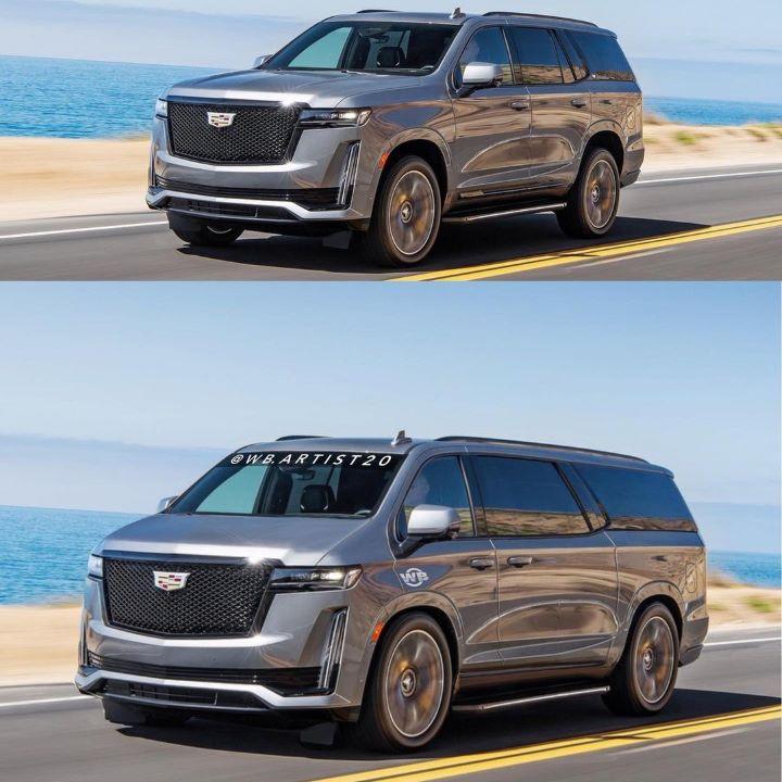Cadillac Escalade minivan rendering
