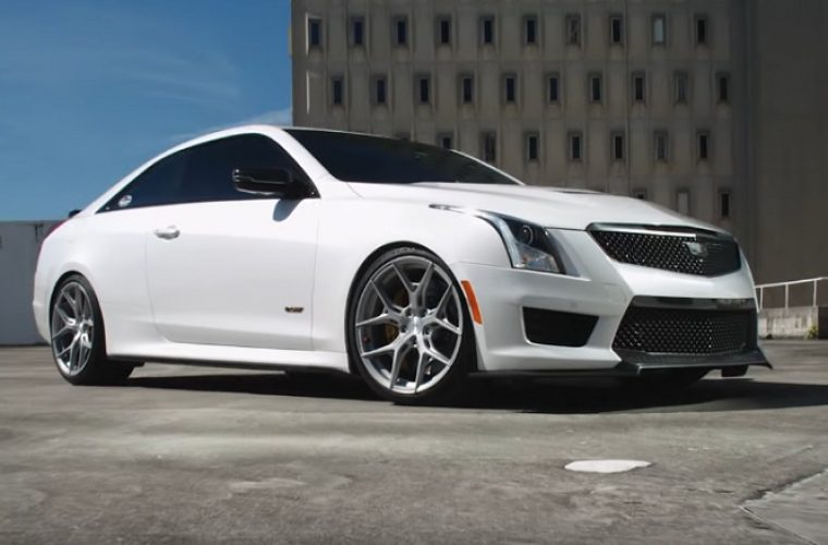Cadillac ATS-V Coupe Looks Mean On Vossen Hybrid Forged HF-5 Wheels: Video