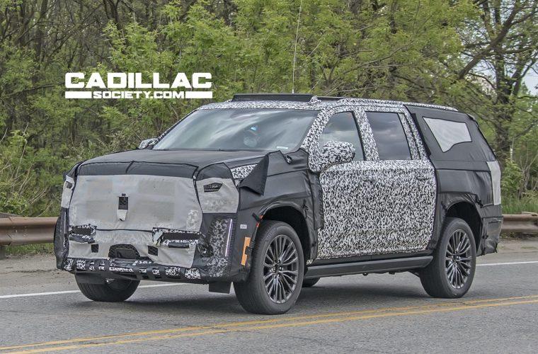 Upcoming Cadillac Escalade-V ESV Undergoes Testing: Photos
