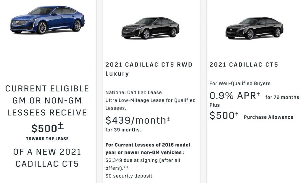 Cadillac CT5 discount