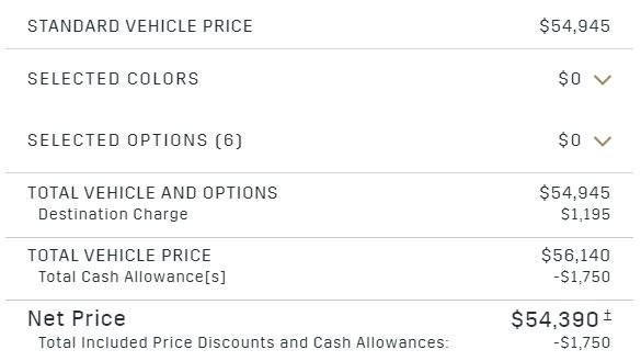 Cadillac XT6 discount