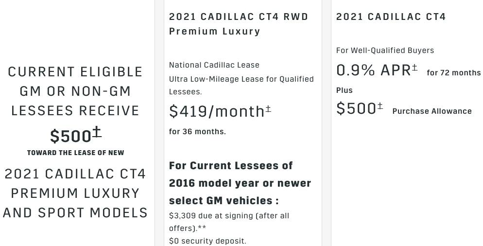 Cadillac CT4 discount